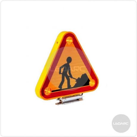 TRI1 Double Sided AK5 LED Traffic Warning Triangle system, 500mm, 12/24V