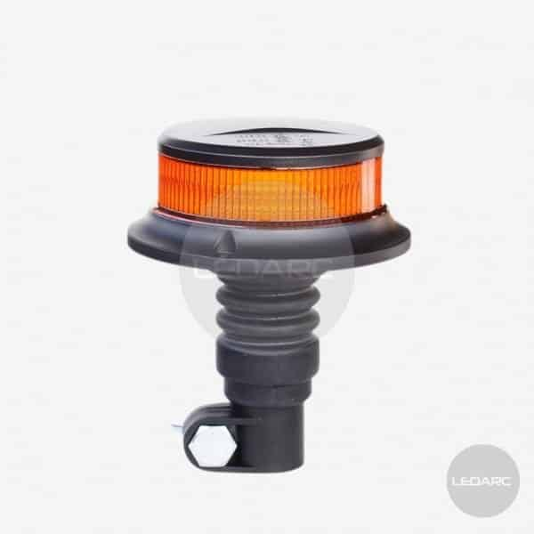 CompactLED Amber LED beacon, DIN pole fixing, 12/24V, ECE R65 approved