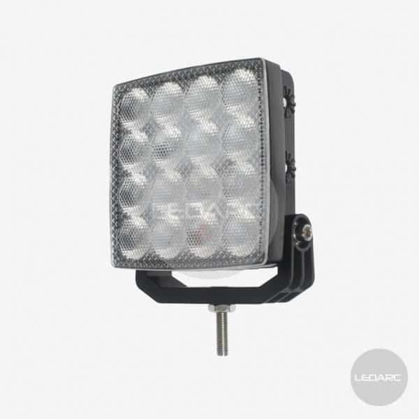 345 series Square LED Work Lamp, 12/24volts, Flood, ECE approved