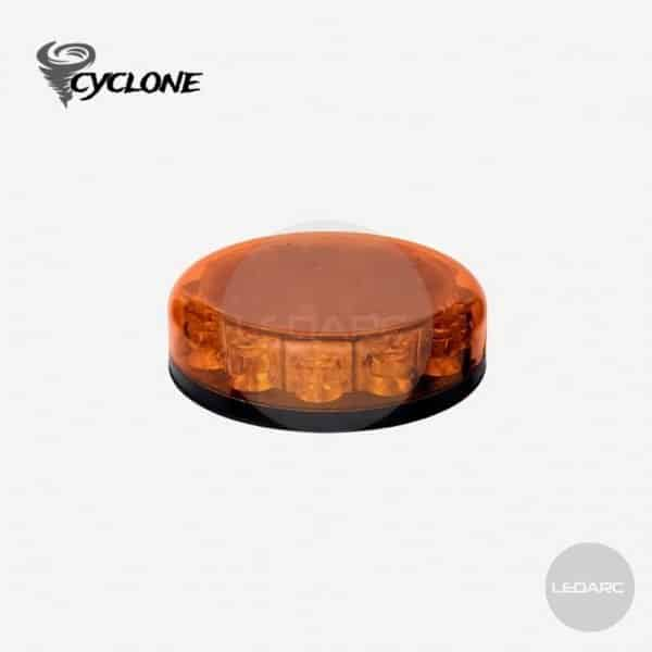 Cyclone Amber LED beacon, 1 bolt mount, 12/24V, ECE R65 approved