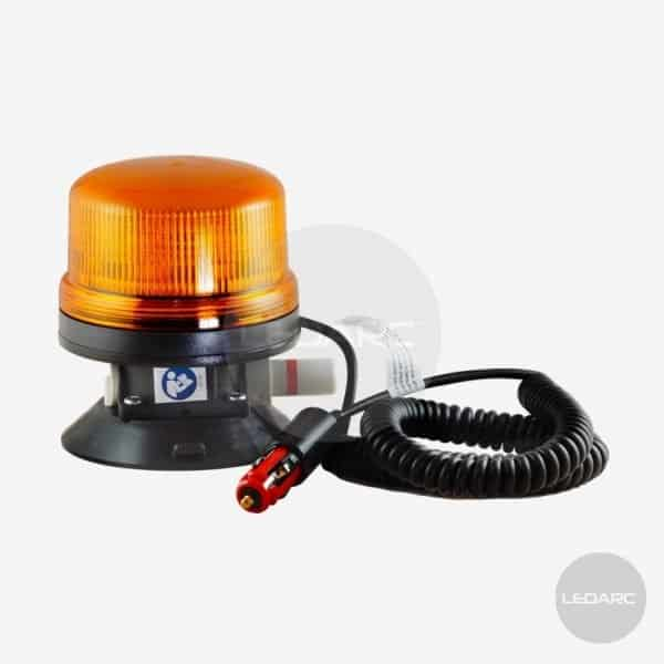 Gyrophare LED orange V16, fixation ventouse, 12/24V, homologué ECE R65 de LEDARC(1)