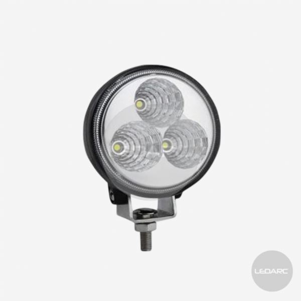 77F series Compact Round LED Work Lamp, 12/24volts, Flood beam, ECE approved