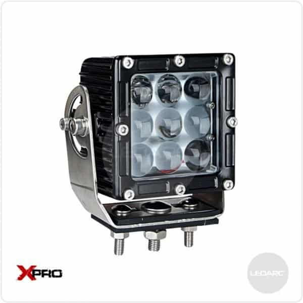 XPRO33S Square Heavy Duty LED Work Lamp, 12/24volts, Spot beam, ECE approved