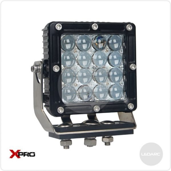 XPRO44S Square Heavy Duty LED Work Lamp, 12/24volts, Spot beam, ECE approved