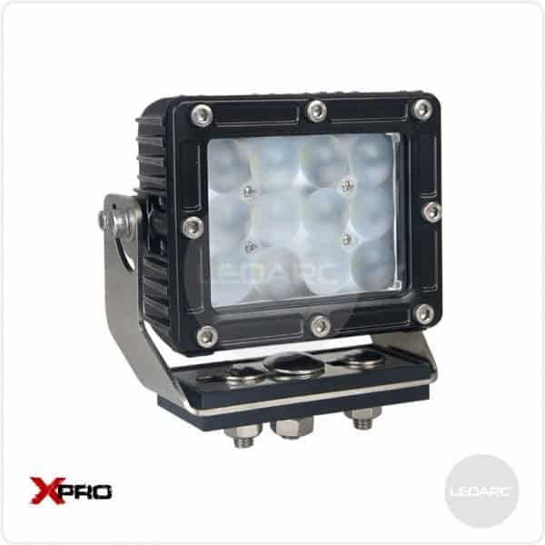 XPRO43F Rectangle Heavy Duty LED Work Lamp, 12/24volts, Flood beam, ECE approved