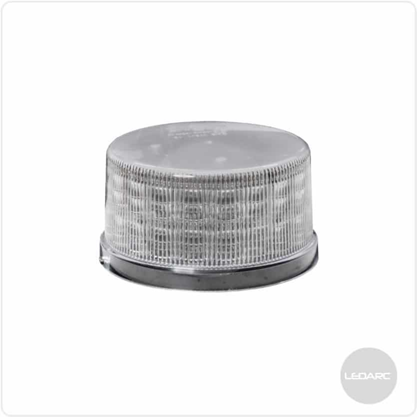 WB72 LED beacon, bolt fixing, 12/24V, ECE R65 class 2 approved, Clear lens