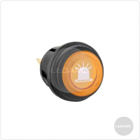 SWL Amber LED Push On/Off Switch With Splashproof Seal & Logo, 12V