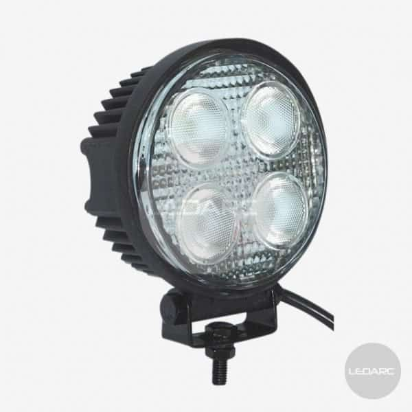 116F series Round LED Work Lamp, 12/24volts, Flood beam, ECE approved