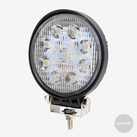 111F series Round LED Work Lamp, 12/24volts, Flood beam, ECE approved, Rear