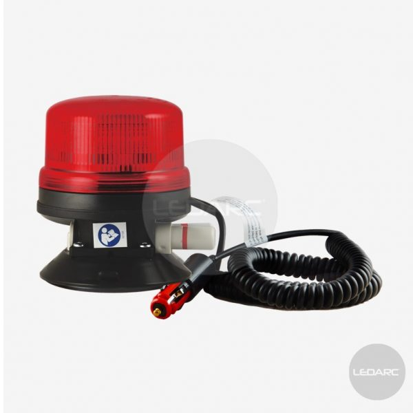 V16 red LED beacon, suction mount, 12/24V, ECE R65 approved