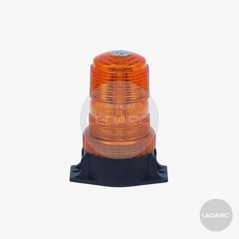130HL Amber LED beacon, 2 bolt fixing, 10-110VDC