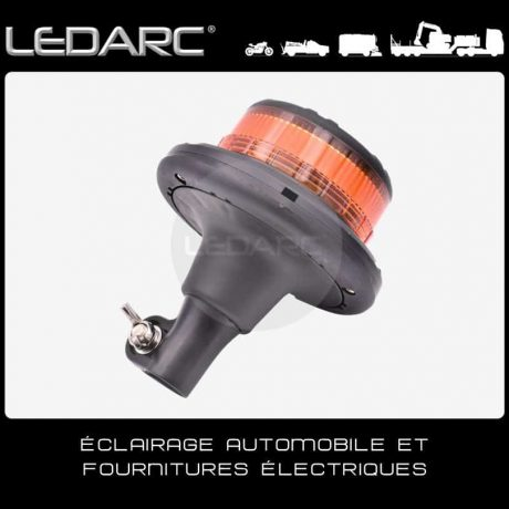 Gyrophare-LED-Orange-VLP45D-fixation-DIN-Hampe-12/24V-ECE R65-de-LEDARC(10)