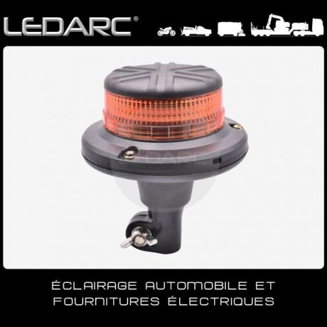Gyrophare-LED-Orange-VLP45D-fixation-DIN-Hampe-12/24V-ECE R65-de-LEDARC(20)
