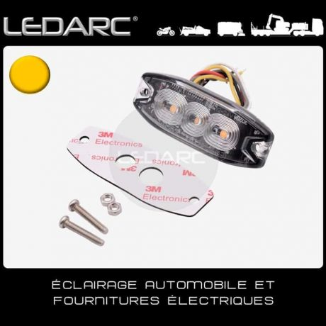 Feu-de-Pénétration-LED-Orange-7182A-Extra-Fin-3-LEDs-Balisage-12/24volts-de-LEDARC(50)