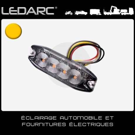 Feu-de-Pénétration-LED-Orange-7183A-Extra-Fin-4-LEDs-Balisage-12/24volts-de-LEDARC(10)