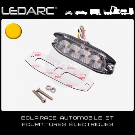 Feu-de-Pénétration-LED-Orange-7183A-Extra-Fin-4-LEDs-Balisage-12/24volts-de-LEDARC(40)