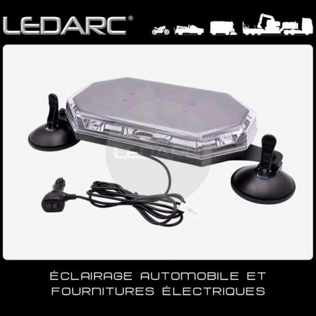 Mini-Rampe-LED-Orange-Extra-Plat-avec-Ventouse-12/24V-ECE-R65-388SUC-de-LEDARC(10)