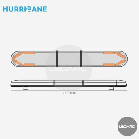 Rampe-Lumineuse-LED-Hurricane-HUR15248AC-1524mm-48-LEDs-orange-de-LEDARC
