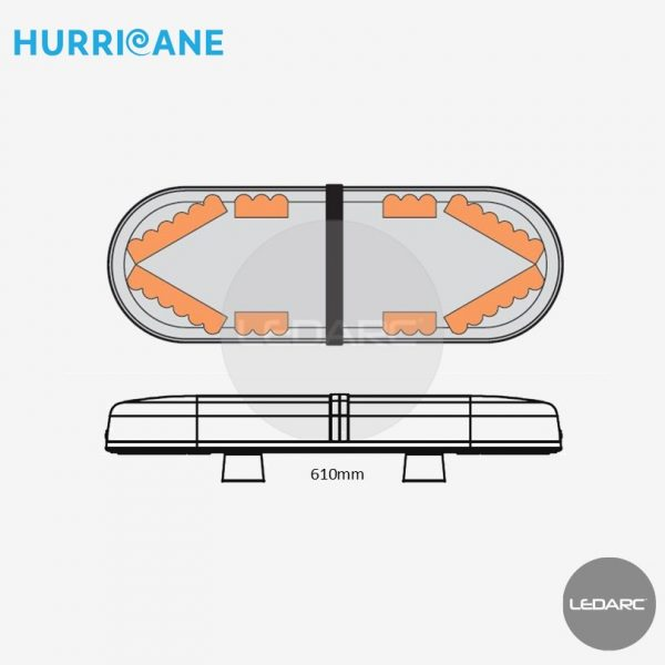 Hurricane-LED-Lightbar-610mm-Amber-LEDs-Clear-Lens-874512399-from-LEDARC