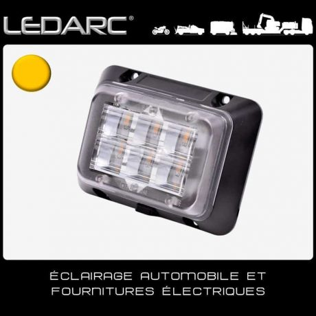 Feu-de-Pénétration-LED-Orange-DLED6A-Carré-6-LEDs-Balisage-10-30volts-de-LEDARC(10)
