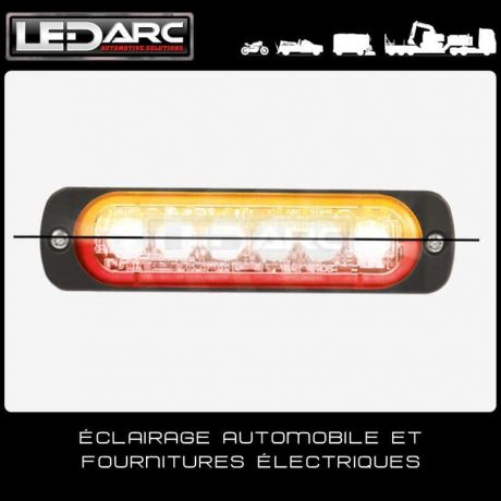 Feu-de-Pénétration-LED-ST6OR-Extra-Fin-12-LEDs-Bicolore-Orange-Rouge-Balisage-12V-24volts-Axixtech-Juluen-de-LEDARC(10)